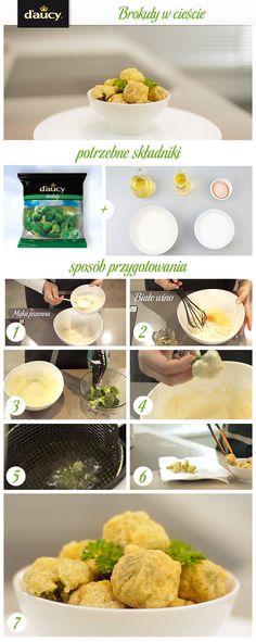 Brokuły w cieście z dodatkiem białego wina.  http://www.daucyinspiruje.pl/przepis/brokuly-w-ciescie/