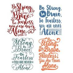 Be Strong Pack SVG Cuttable Designs Be Strong, be brave, be fearless. You are never alone - Cuttable Design Cut File. Vector, Clipart, Digital Scrapbooking Download, Available in JPEG, PDF, EPS, DXF and SVG. Works with Cricut, Design Space, Sure Cuts A Lot, Make the Cut!, Inkscape, CorelDraw, Adobe Illustrator, Silhouette Cameo, Brother ScanNCut and other compatible software.