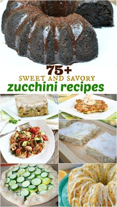 Grab some Zucchini and get inspired with this list of over 75+ sweet and savory recipes!
