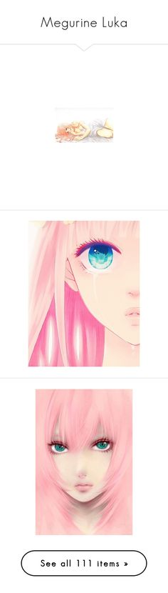 """""""Megurine Luka"""" by medusa-chan ❤ liked on Polyvore featuring anime, effect, vocaloid, luka, people, fillers, art, manga, anime girls and characters"""