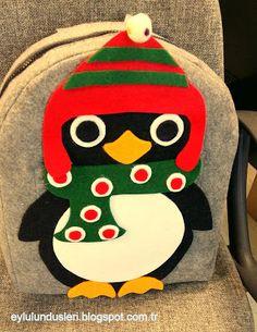 Keçelikalem: Doğuştan smokinli ve çok sevimli:) School Bags, Christmas Ornaments, Holiday Decor, Home Decor, Decoration Home, Room Decor, Christmas Jewelry, Christmas Decorations, Home Interior Design