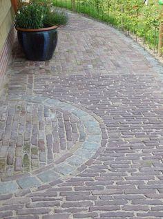 Stone Patio Designs, Brick Path, Driveways, Pavement, Green Grass, Garden Paths, Sidewalk, Backyard, Outdoors