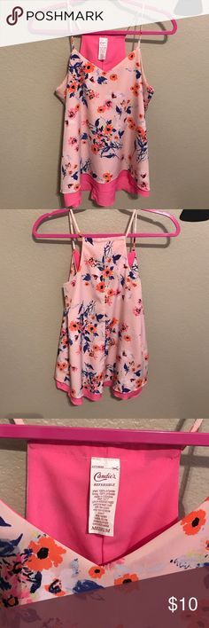 Candies Reversible top Reversible flowy top with flowers by Candies. Excellent condition no rips or stains. Candie's Tops