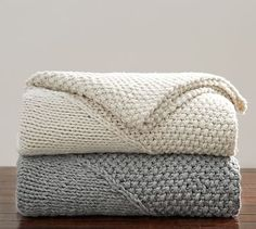 Oversized Chunky Diamond Knit Throw #potterybarn