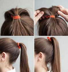 If you know a good hair hack you go by chances are you use it often. But it doesn't hurt to learn new hair hacks to make your hair less frizzy and set up for a great hair day! Pretty Hairstyles, Easy Hairstyles, Ponytail Hairstyles Tutorial, Elegant Hairstyles, Summer Hairstyles, Summer Ponytail, Perfect Ponytail, About Hair, Hair Day
