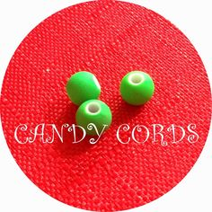 15 Fluorescent Green Neon Round Rubber Effect Acrylic Beads 6mm Jewellery Making