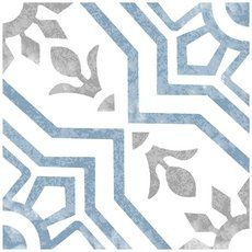 Stratford Deco Porcelain Tile - 8 x 8 - 100506054 Marble Art, Marble Mosaic, Mosaic Glass, Deco Retro, Retro Vintage, Modern Floor Tiles, Commercial Flooring, Blue Tiles, Floor Decor