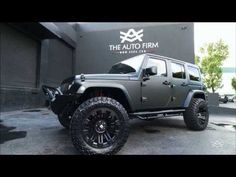 2014 AVORZA JEEP WRANGLER SATIN BLACK EDITION - BY ALEX VEGA. Never been a fan of jeeps, quite frankly I don't get the appeal. But this Jeep here... I'll take it!  Pretty sweet!