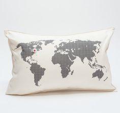 map pillows