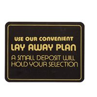 Layaway Policy Sign