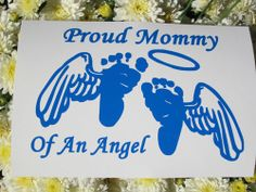BABY FEET with WINGS - Proud Mommy Of An Angel Decal