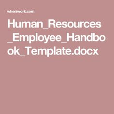 Employee Handbook  Employee Handbook And Hr Humor