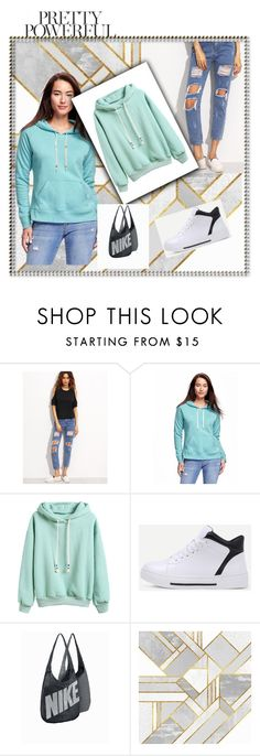 """""""10/02"""" by ermina-camdzic ❤ liked on Polyvore featuring Old Navy, NIKE and romwe"""