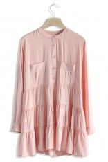 Breezy Flare Tunic in Pink - Tops - Retro, Indie and Unique Fashion