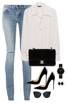 """Untitled #3079"" by theaverageauburn on Polyvore featuring Yves Saint Laurent, Plein Sud, Chanel, CLUSE, Quay and Bounkit"