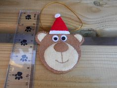 BEAR - Hanging Christmas Decoration £3.00