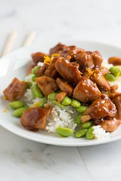 Orange Honey Teriyaki Chicken Recipe from www.inspiredtaste.net #recipe #chicken #dinner
