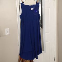 Blue High low Dress Blue High Low Dress. New, never worn. No trades. Cato Dresses High Low