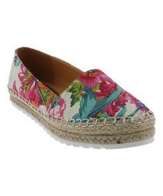 Look what I found on #zulily! Liliana Footwear White Lucas-1 Slip-On Espadrille by Liliana Footwear #zulilyfinds