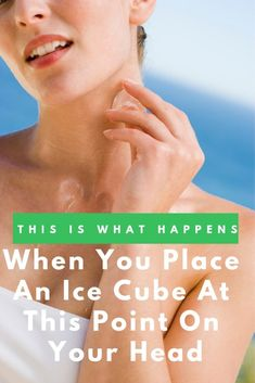 Health Motivation This Is What Happens When You Place An Ice Cube At This Point On Your Head - Get ready to open your freezer and crack your ice cube trays. Ice therapy is Natural Cough Remedies, Natural Cures, Healthy Weight, Healthy Tips, Healthy Food, Healthy Juice Drinks, What Happens When You, Health Matters
