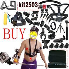 Sale US $30.97  A9 For Action Camera accessories Set for Gopro Hero SJCAM XIAOMI YI 4K 2 Eken H9R H8R Gitup Git2 Video Sports Action Cam  #Action #Camera #accessories #Gopro #Hero #SJCAM #XIAOMI #Eken #Gitup #Video #Sports  #BlackFriday