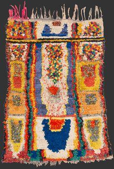 bs189, Moroccan boucherouite rag rug 150 x 115 cm / 5' x 3' 10''