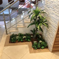 41 Excellent Indoor Garden Design Ideas In Under The Stairs - Perhaps the most beneficial aspect of hydroponics gardening is the ability to grow plants at any time of year. During the winter months, and particula. House Plants Decor, Plant Decor, Interior Garden, Home Interior Design, Kitchen Interior, Modern Interior, Kitchen Design, Design Homes, Small Garden Under Stairs