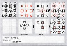 Apache - tangle pattern by perfectly4med, via Flickr