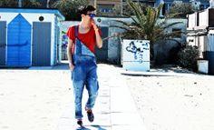 "Sunglasses: ""Italia independent"" T-shirt: ""Alternative Apparel"" Salopette: ""Zara"" Shoes: ""Vans""  http://www.mattiapigliapoco.it/"