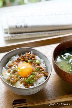 Tamago kake natto gohan