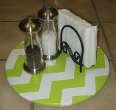 Vintage lazy susan great for supplies on your desk--make it cute see this how to