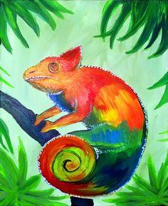 Neu im Portfolio bei den ARTMASTERS: Carl the Chameleon! Gemalt von unserer neuen Künstlerin Giulia mit Neon-Farben  #paintparty #malparty #malenlernen #paint #malen #ausgehen #kreativ #nürnberg #münchen #stuttgart #leutekennenlernen #artmasters #mädelsabend #gno #Carl #deko #selbermachen #gemälde