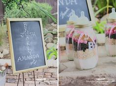 Gift in a Jar - Rustic Pink Baby SHower