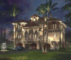 Venetian Italian style villa palazzo Renaissance palace luxury home design