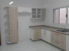 Resultado de imagem para projeto cozinha em u Moduler Kitchen, Modern Kitchen Cabinets, Kitchen Sets, Modern Kitchen Design, Kitchen Decor, Ikea Cupboards, Cuisines Design, Closet Bedroom, Design Moderne