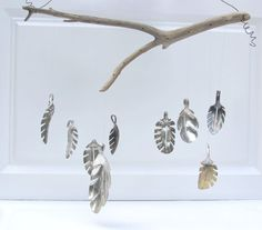 Spring leaf wind chime, upcycled from anitique spoons