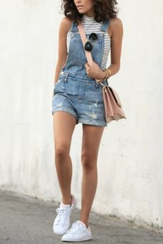 Trendy overalls outfits for summer and spring (5)