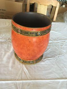 Bejeweled Ornate Bathroom Waste Basket $10