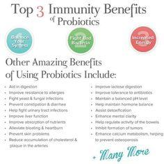 3 Immunity Benefits of Probiotics #Health #Gut