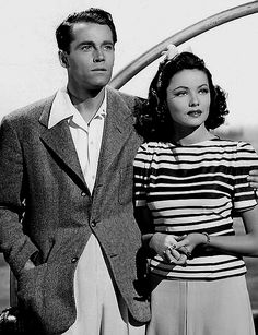 Gene Tierney on IMDb: Movies, TV, Celebs, and more… – IMDb Henry Fonda and Gene Tierney in Rings on Her Fingers Old Hollywood Stars, Old Hollywood Movies, Old Hollywood Glamour, Hollywood Actor, Golden Age Of Hollywood, Classic Hollywood, Vintage Hollywood, Hollywood Couples, Hollywood Fashion