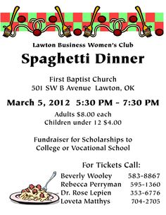 Spaghetti Dinner Fundraiser  Fun Of Fundraising
