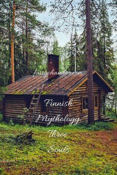 Concept of three souls in Finnish mythology and folklore )O( Finnish Language, Patio Grande, How To Build A Log Cabin, Log Cabin Kits, Cabin In The Woods, Common Myths, Kind Person, Country Style Homes, Wild Nature