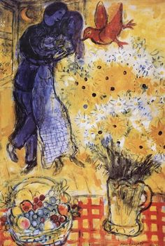 """When Matisse dies,"" Pablo Picasso remarked in the ""Chagall will be the only painter left who understands what color really is"". I love Chagall! Marc Chagall, Artist Chagall, Chagall Paintings, Oil Paintings, Indian Paintings, Abstract Paintings, Landscape Paintings, Henri Matisse, Pablo Picasso"