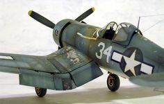 1:48 scale Tamiya F4U-1A Corsair.