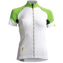 Mavic Athena Cycling Jersey - UPF 30, Full Zip, Short Sleeve (For Women) in White/Folio - Closeouts