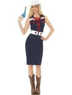 Adult Wild West Rodeo Cowgirl Ladies Fancy Dress Hen Party Costume Outfit
