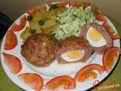 Masové mufiny-Pštrosí vejce. Tacos, Mexican, Eggs, Breakfast, Ethnic Recipes, Egg, Egg As Food