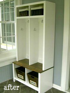 DIY Entryway Storage