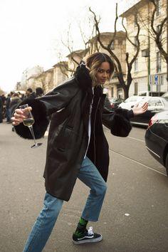 See All the Best Street Style from Milan Fashion Week: Binx Walton