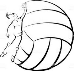 Image result for free volleyball clipart black and white